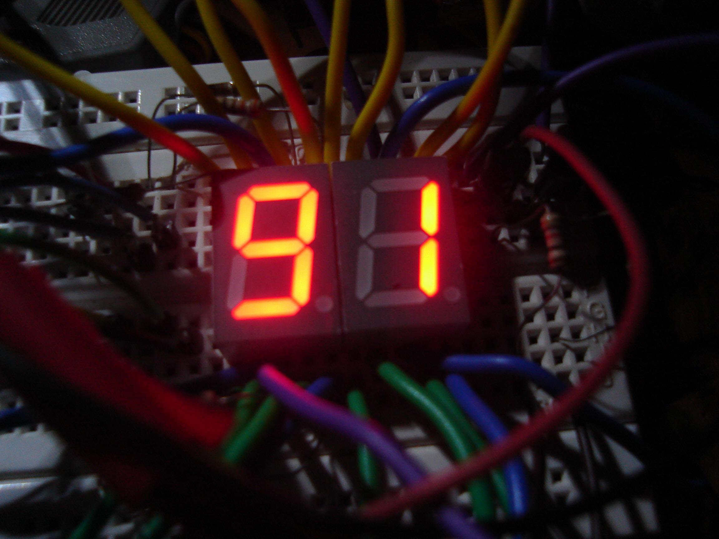 Interfacing Multiple Seven Segment Displays Multiplexing Circuit Diagram Working