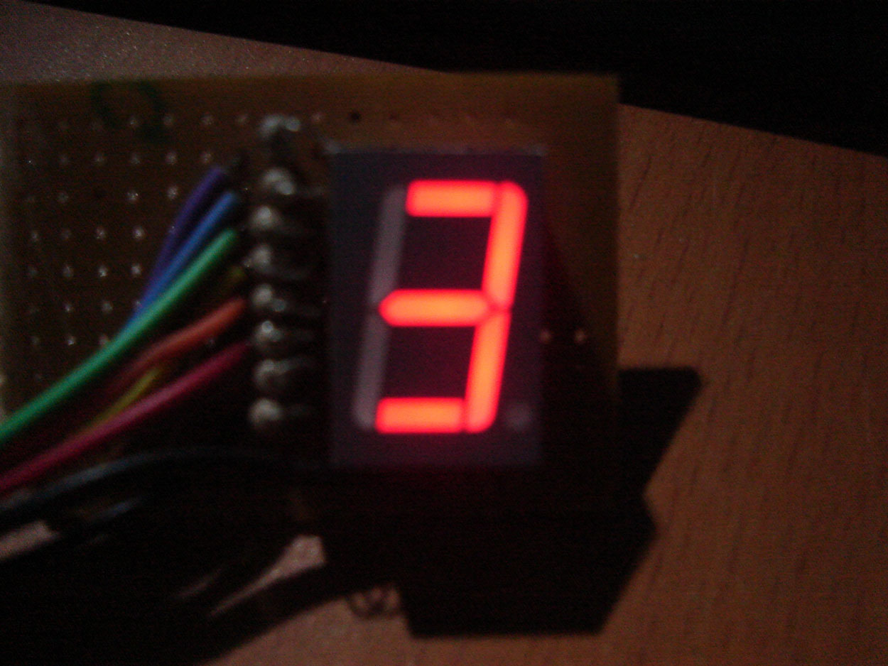 Interfacing seven segment display